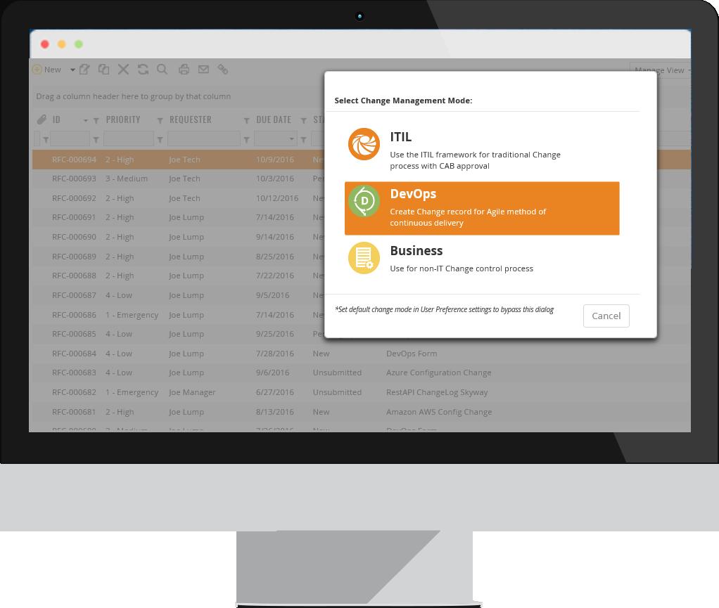 ChangeGear Change Manager Dashboard - Meritide, MN